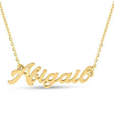 nameplate necklace gold abigail nameplate necklace in gold tone jewelry