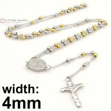 necklace rosary beads images Gokadima stainless steel necklace men jewelry or women catholic jpg