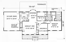 one story house plan great one story 7645 3 bedrooms and 2 5 baths the house designers