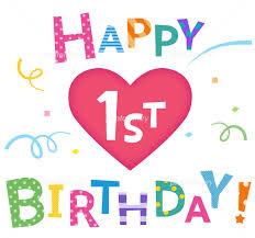 1st birthday happy birthday 1st birthday illustration 5342069 stock photo