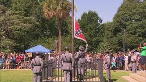 Colors Of The Confederate Flag Watch Confederate Flag Come Down From South Carolina U0027s Capitol
