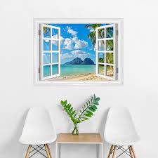 island paradise faux window mural island paradise window mural