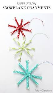 paper straw snowflakes snowflake ornaments diy paper and ornament