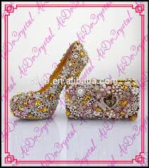 wedding shoes luxury aidocrystal gold diamond women luxury wedding shoes royal favors