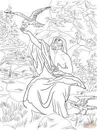 free coloring page elijah