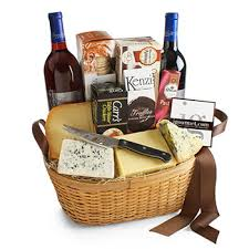 wine and chocolate gift basket winecheesegifts dessert gift basket of chocolate cheese and