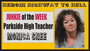 Chris Snee Bench Press Heroin Highway To Hell Teacher Monica Snee Nabbed With Load Of