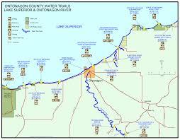Michigan Lighthouse Map paddling