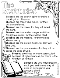 the beatitudes coloring sheet kids church pinterest