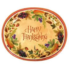 happy thanksgiving paper platters 8ct value
