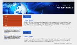 membuat web html cara membuat desain web dua kolom css tutorial