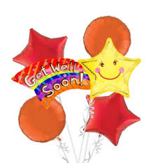 get well soon and balloons get well soon balloon bouquet 5pc party city