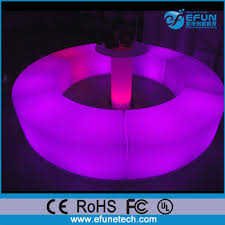 Led Outdoor Furniture - party and salon led round bar seat rgb color illuminated