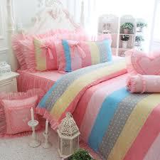 Rainbow Comforter Set Rainbow Polka Dot Bedding U2013 Atomic For Children U0027s Bedroom