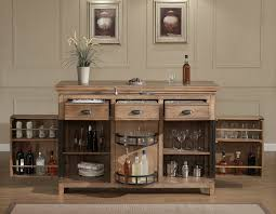 modern family home decor furniture bar cabinets with white wall design and brown wooden