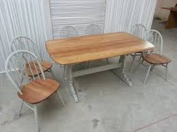 Ercol Dining Table And Chairs Ercol Refectory Table And 6 Chairs Upcycled In Farrow And