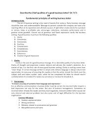 fundamental principles of writing business letter 7 c u0027s