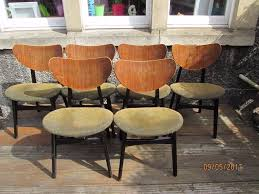 g plan 1950 u0027s 1960 u0027s full set of 6 retro butterfly dining chairs