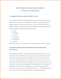 Example Of Thesis Statement For Argumentative Essay Write A Good Thesis Statement For An Essay What Is Thesis