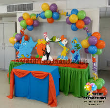 Birthday Decoration Ideas For Boy Dr Seuss Party Theme Ideas Dr Seuss Characters Cake Table
