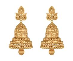 gold earrings buy lavanya jhumki gold earring for women online best gold