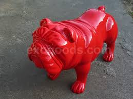 bulldog statue for home decor or yard and garden u2014 life size dog