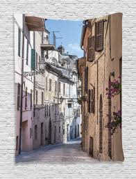 rustic tapestry wall hanging italian old town street home decor