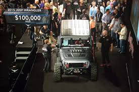 jeep vented hood highly modified omix ada sema cares jeep sells at auction
