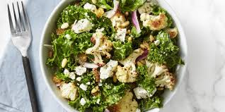 this kale and roasted cauliflower salad recipe will keep your