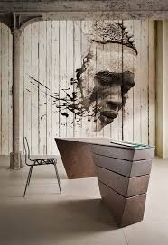121 best wall murals street art images on pinterest urban art mural done on narrow panels this paint style is a mix of realism in figure s face but then it ends up with very expressive more edgy and contemporary