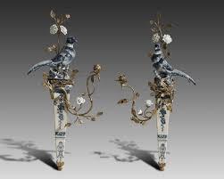 objet en metal lyvrich objet d u0027art fabulous handmade mirror heron birds