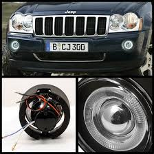 2005 jeep grand headlights 2005 09 jeep grand clear halo projector fog lights