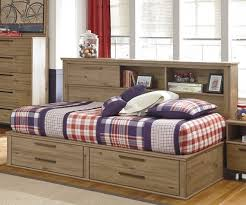 twin daybed with bookshelf and 3 drawers and trundle desk hutch