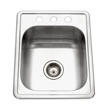 Houzer ABS ADA Glowtone Topmount Stainless Steel  X - Ada kitchen sink