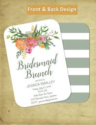 invitations for bridesmaids bridal brunch customizable bridal shower bridesmaids