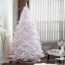 impressive design white pre lit tree 7 5 foot classic