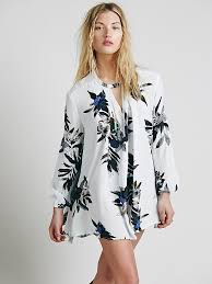free people womens electric orchid print swing tunic lyst