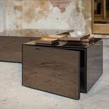 Nesting Tables Ikea by Coffee Table Notre Monde Bronze Cube Side Table 1 Door Houseology
