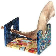 rams horn shofar silver plated rams horn shofar menorah israel cart