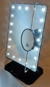 rucci led lighted movable 11 inch vanity mirror 10x magnifying