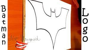 how to draw batman logo step by step easy dark knight for kids