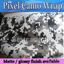 Ford Camo Truck Wraps - white urban night digital tiger camo vinyl car wrap with air