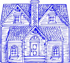 home blue heritage home blue clip art at clker com vector clip art online