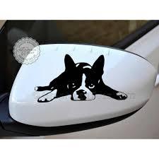 Boston Terrier Flag Cute Boston Terrier Puppy Wing Mirror Bumper Car Body Stickers