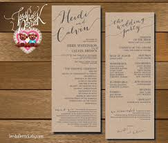 wedding program designs printable wedding program and ceremony order in custom design and