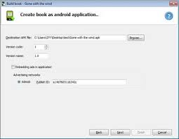 create apk build ebook app