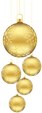 golden balls ornaments png picture