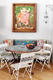artistic breakfast dining room shabby chic style with tile table