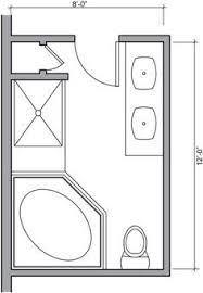 design a bathroom floor plan modify this one 8x11 bathroom floor plan with bowl vanity