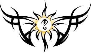 tribal and sun with leo sign design tattooshunt com